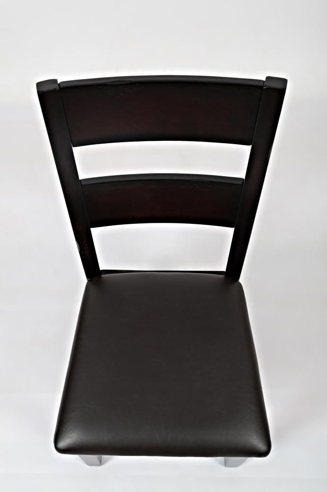 dark rustic prairie one rung ladderback chair 972762kd side