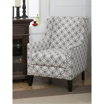 Accent Chair With Silver Nailheads