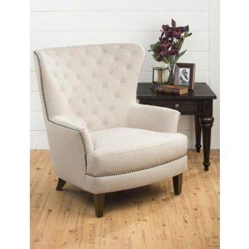 Conner Wingback Chair- Natural