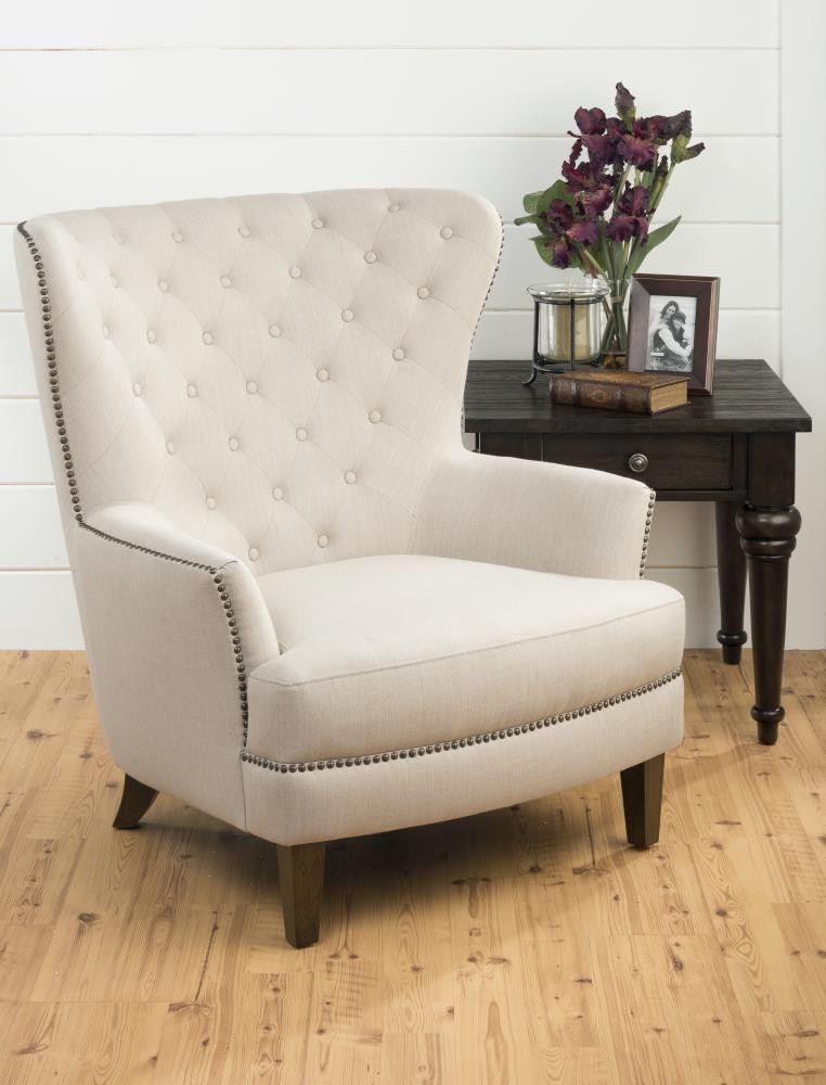 Conner Wingback Chair  Natural
