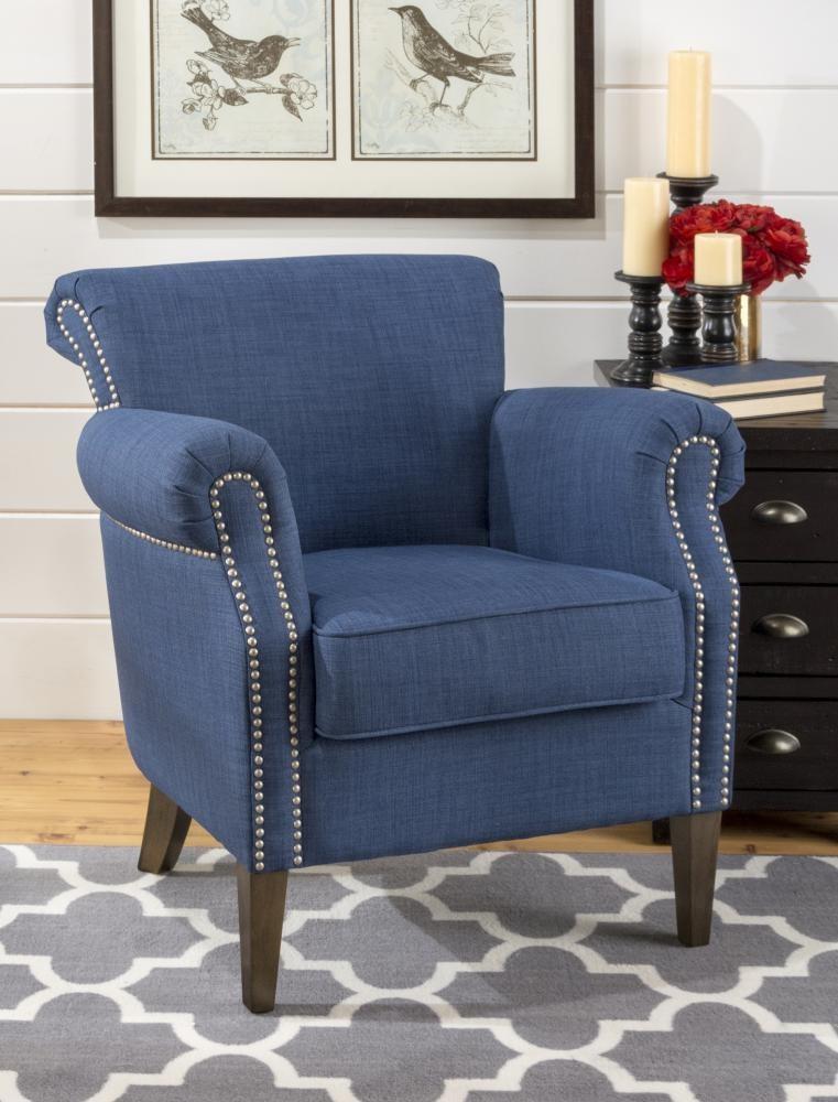 Emma Club Chair- Admiral Blue