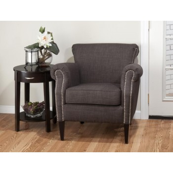 Emma Club Chair- Charcoal