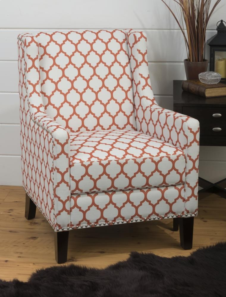 Jeanie Accent Chair- Persimmon
