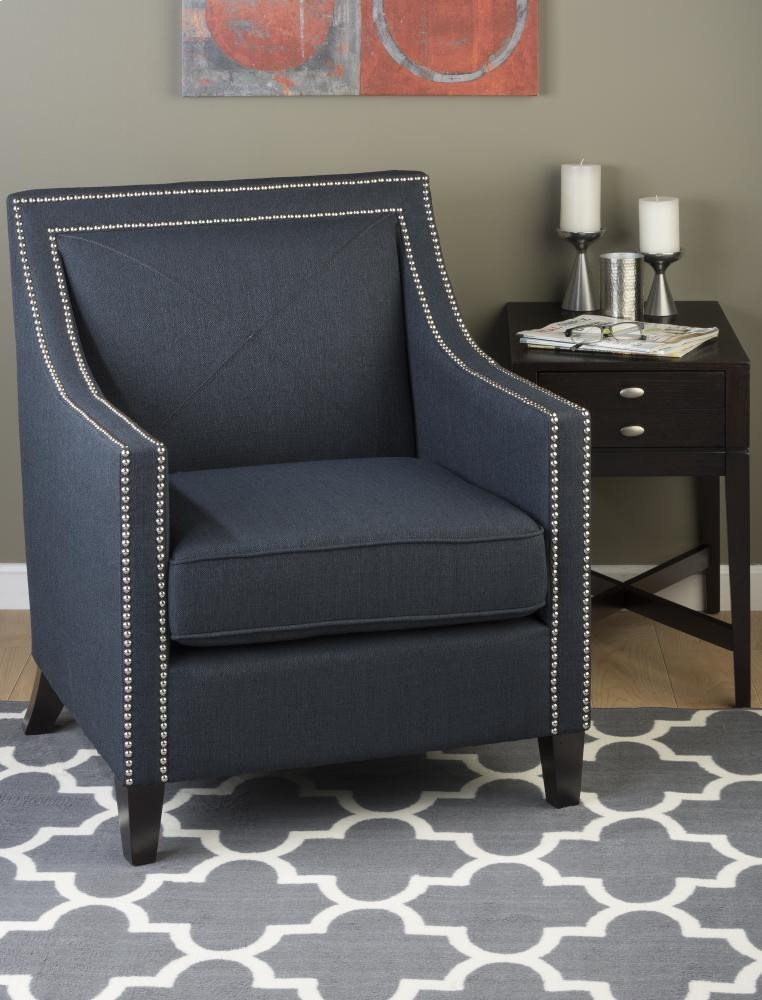 Fine Luca Club Chair Indigo Gmtry Best Dining Table And Chair Ideas Images Gmtryco