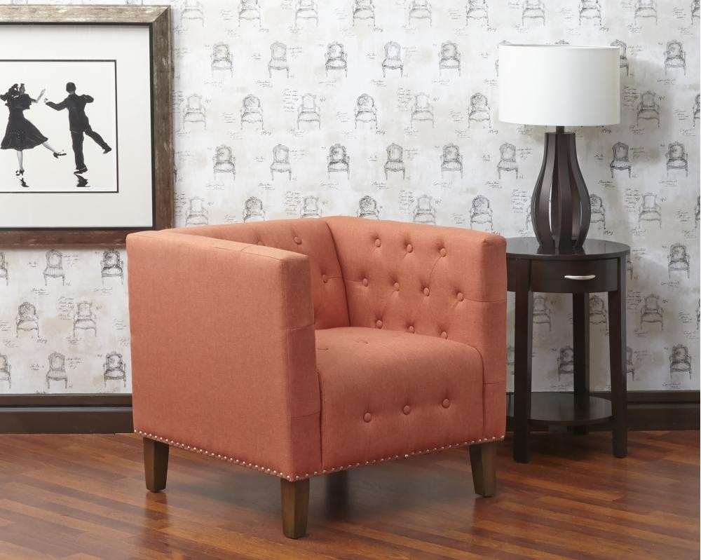 Zoe Tufted Accent Chair- Mango
