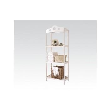 White Bathroom Rack