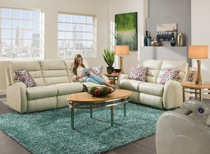 Double Reclining Rocking Loveseat 58541 Reclining Love