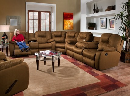 Double Reclining Sofa With Drop Down Table 83833 Reclining Sofas