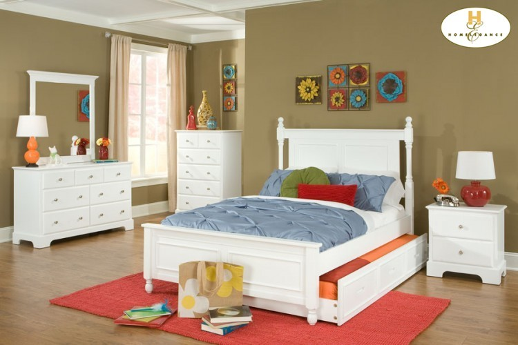 Twin Bed with Twin Trundle