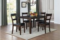 5-Piece Pack Dinette Set Table : 36 x 48 x 30H Chair : 17.5 x 21 x 38H