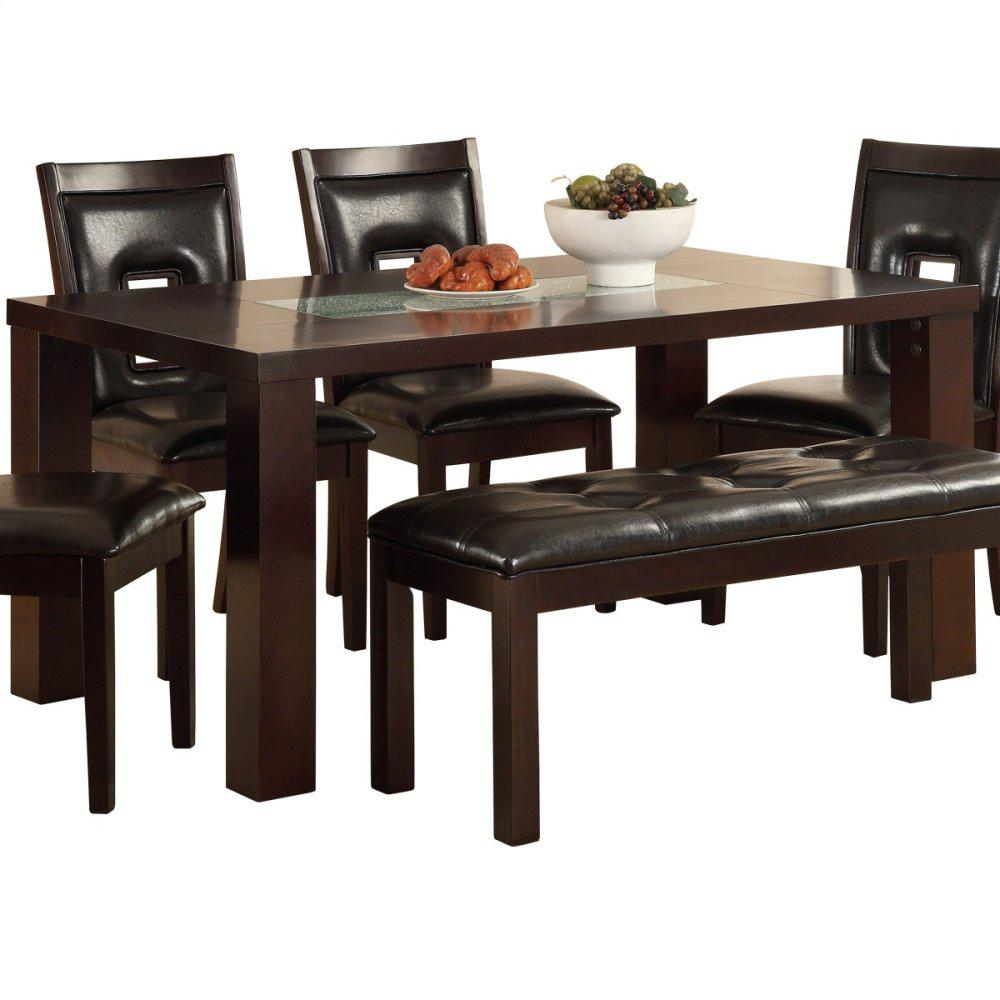 Dining Table With Crackle Glass Insert Tables D Amp L