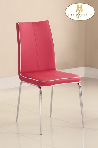 Outstanding Side Chair Red Pvc Beatyapartments Chair Design Images Beatyapartmentscom