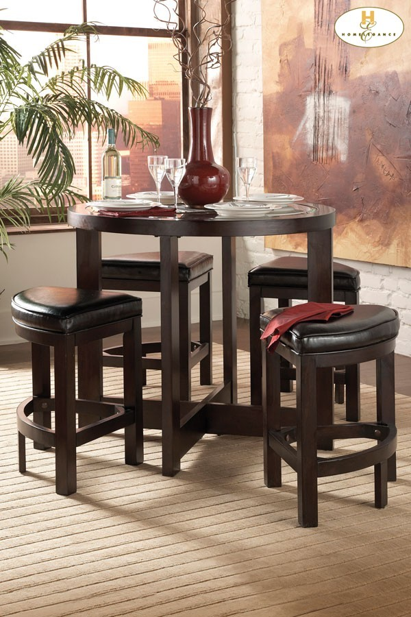 Cool 5 Piece Pack Counter Height Set Table 40 Dia X 36H Stool 18 X 18 X 24H Beatyapartments Chair Design Images Beatyapartmentscom
