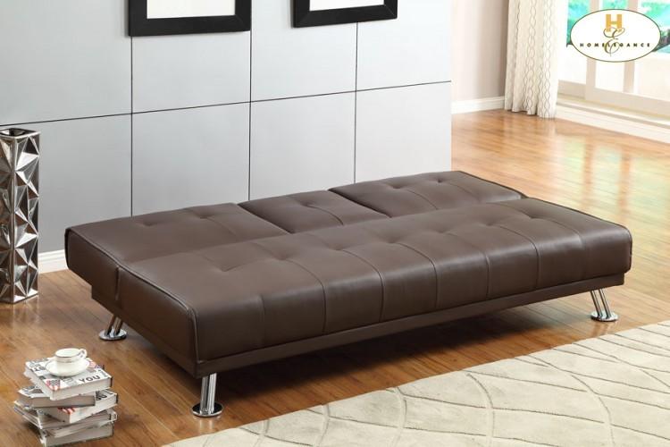 Elegant Lounger Sofa: 74 X 32.5 X 33.5H Bed: 74 X 46.5 X