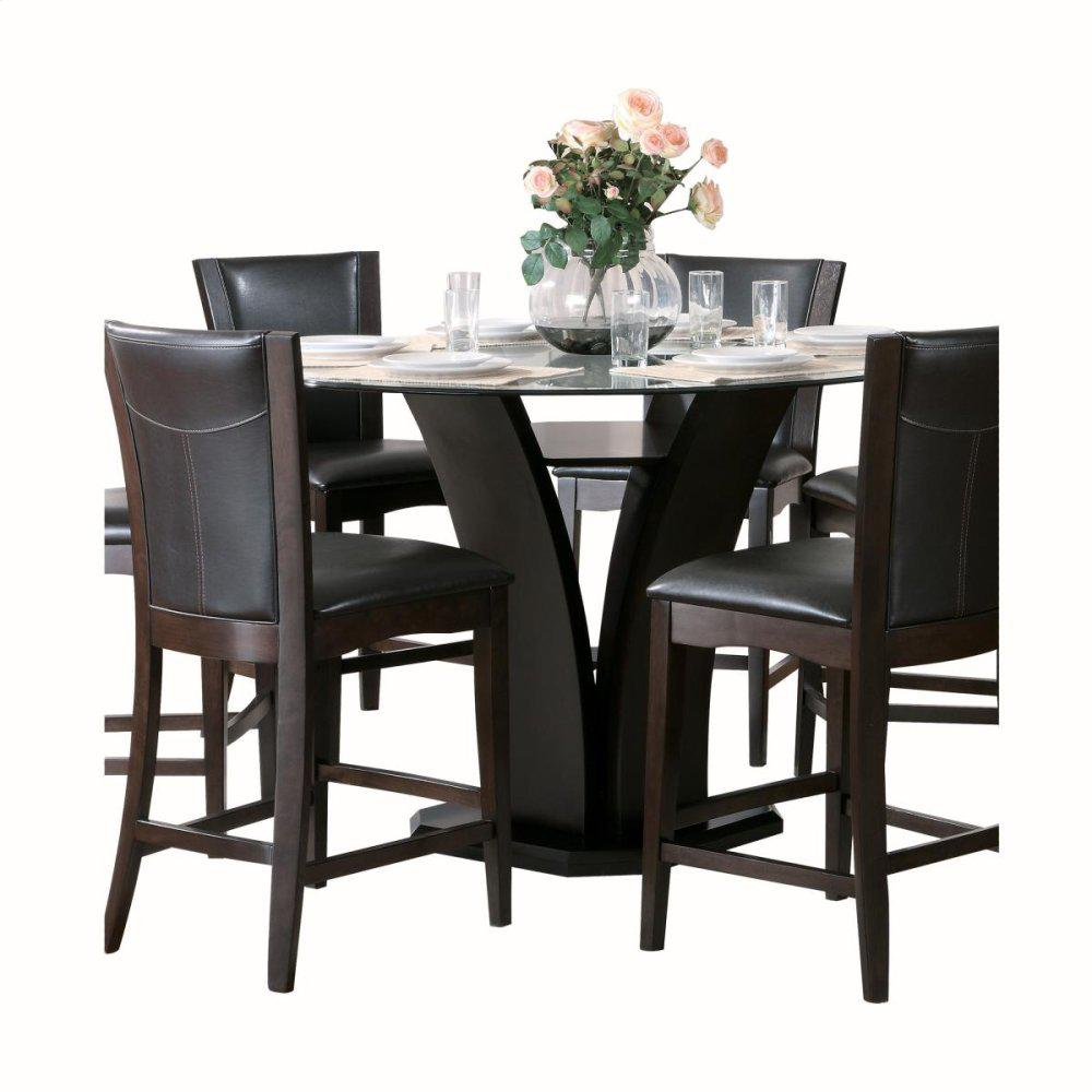 Round Counter Height Table, Glass Top
