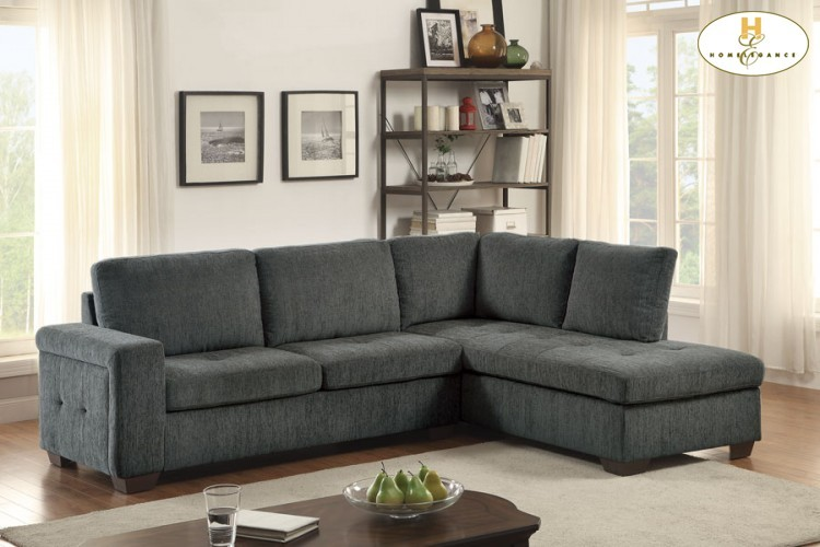 Left Side 2 Seater With Full Size Sleeper Love Seat: 71.25 X 34.75 X