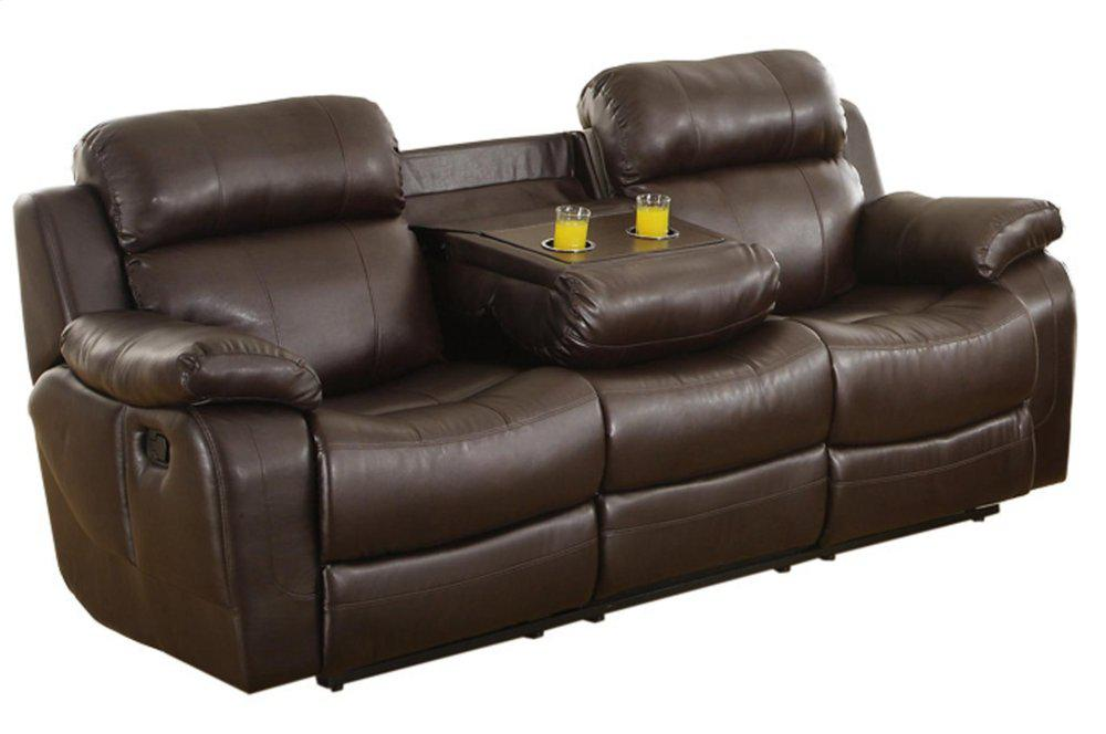 Double Reclining Sofa With Center Drop Down Cup Holders Sofas