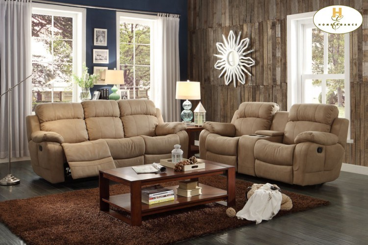 Double Reclining Sofa With Center Drop Down Cup Holders 9724tpe3