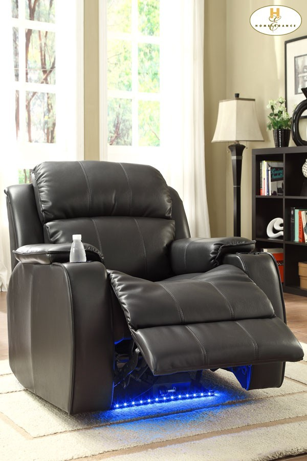 Power Reclining Chair With Massage, LED U0026 Cup Cooler