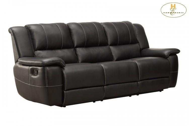 Double Reclining Sofa   9778BLK3   Reclining Sofas   Furniture World ...