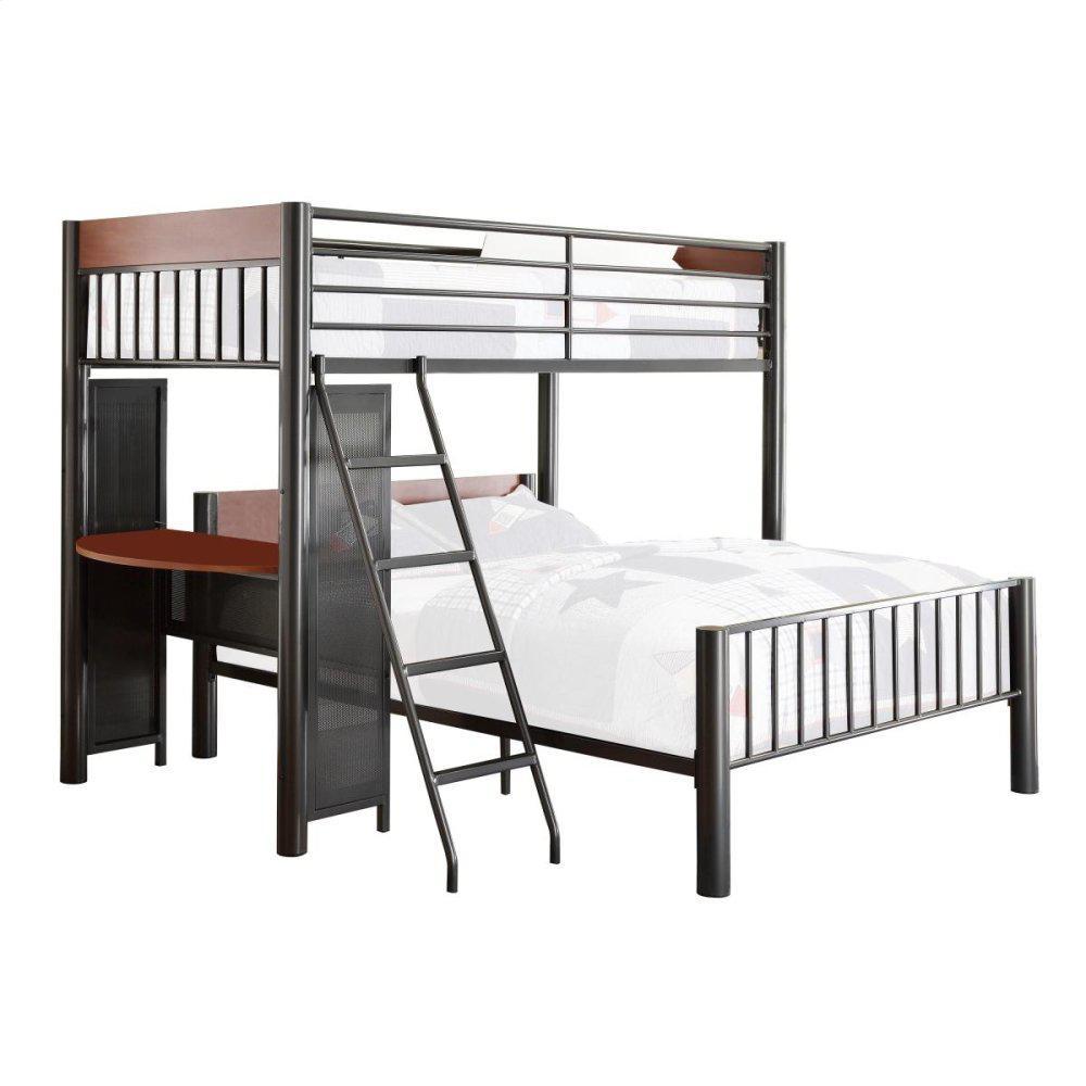 Twin/Full Loft Bed Upper Twin Bed: 81 x 43 x 65H Lower Full Bed: 81 x 58 x 32.5H