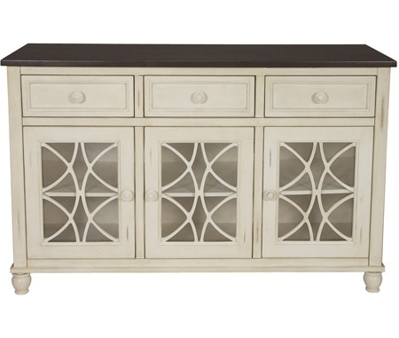 JOHN THOMAS FURNITURE Buffet Eggshell U0026 Walnut