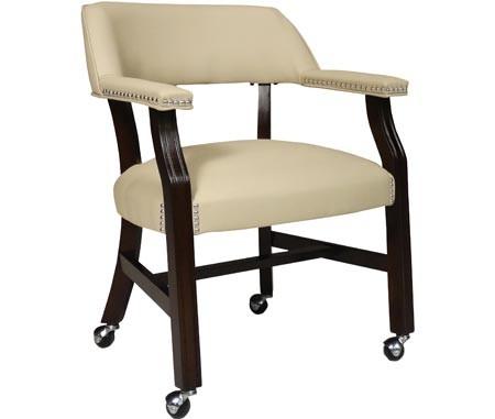 Genial JOHN THOMAS FURNITURE Castored Chair Rich Mocha W/ Light Gray Vinyl