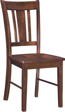 John Thomas Furniture San Remo Chair Espresso C58110b Side