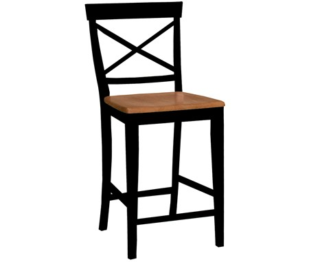 John Thomas Furniture X Back Stool Black Cherry S576132s576133
