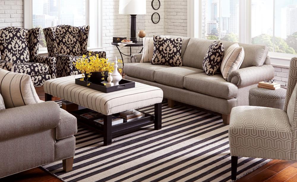 Genial CRAFTMASTER FURNITURE Craftmaster Living Room Stationary Sofas, Three  Cushion Sofas