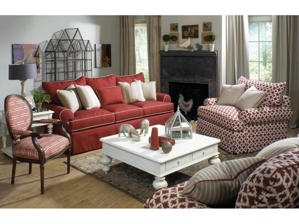 Craftmaster furniture paula deen by craftmaster living room stationary sofas three cushion for Paula deen living room furniture
