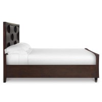 Complete Cal. King Panel Bed with Storage Footboard