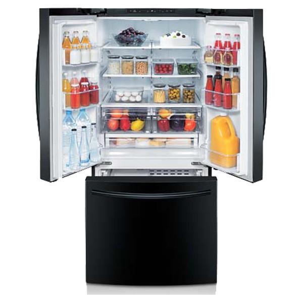 Samsung 30 Wide 22 Cu Ft French Door Refrigerator Black