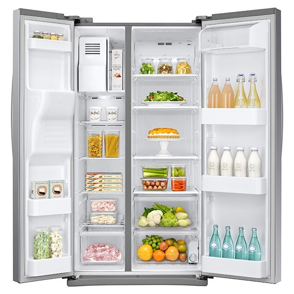 Samsung 25 Cu Ft Capacity Side By Side Refrigerator With Led