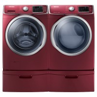SAMSUNG WF5400 4.2 cu. ft. Front Load Washer with SuperSpeed (Merlot)