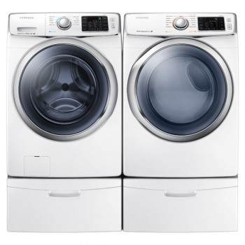 SAMSUNG WF5400 4.2 cu. ft. Front Load Washer with SuperSpeed (White)