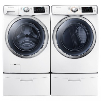 SAMSUNG WF6300 4.5 cu. ft. Front Load Washer with SuperSpeed (White)