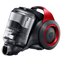 SAMSUNG VC-F700G Motion Sync Bagless Canister Vacuum with Built-In Accessories (Vitality Red)