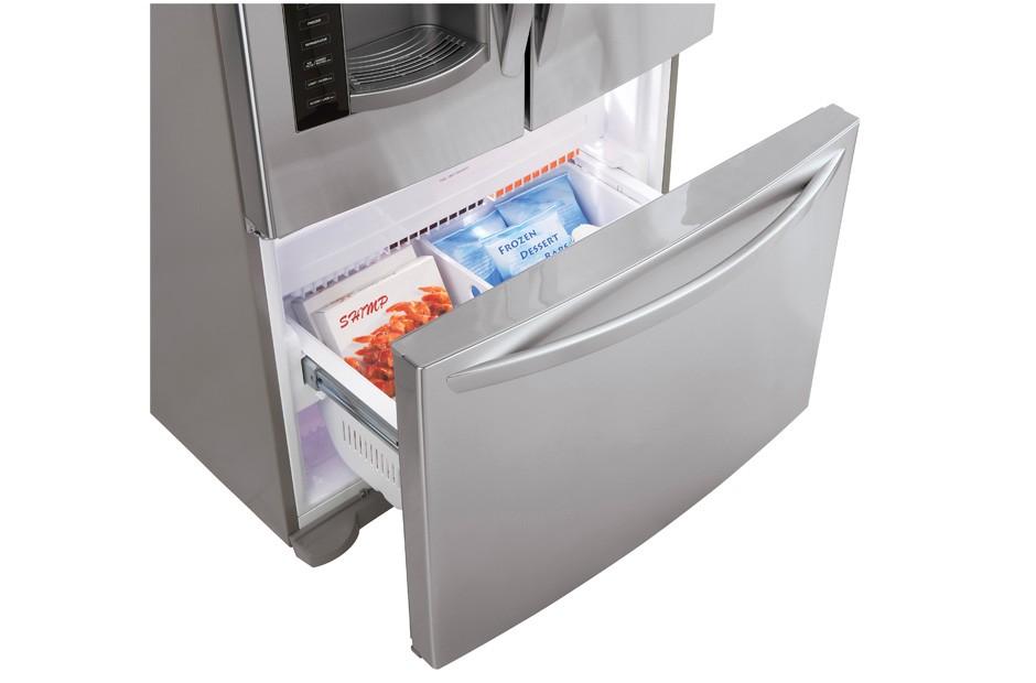 LG Large Capacity Counter Depth 3 Door French Door Refrigerator
