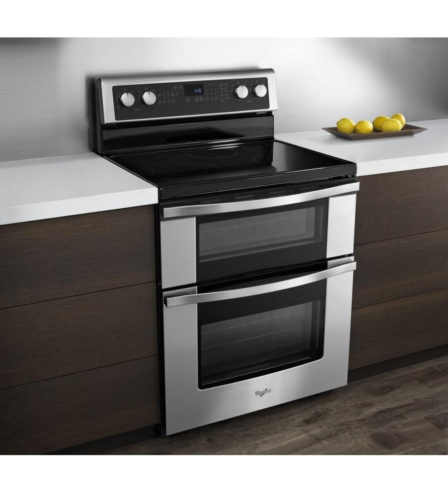 Whirlpool 67 Total Cu Ft Double Oven Electric Range With Accubake