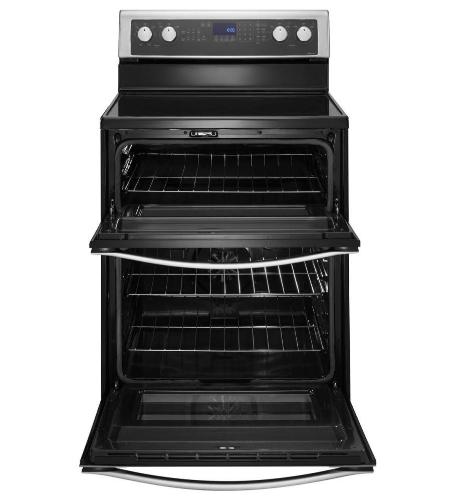 Whirlpool 67 Total Cu Ft Double Oven Electric Range With True
