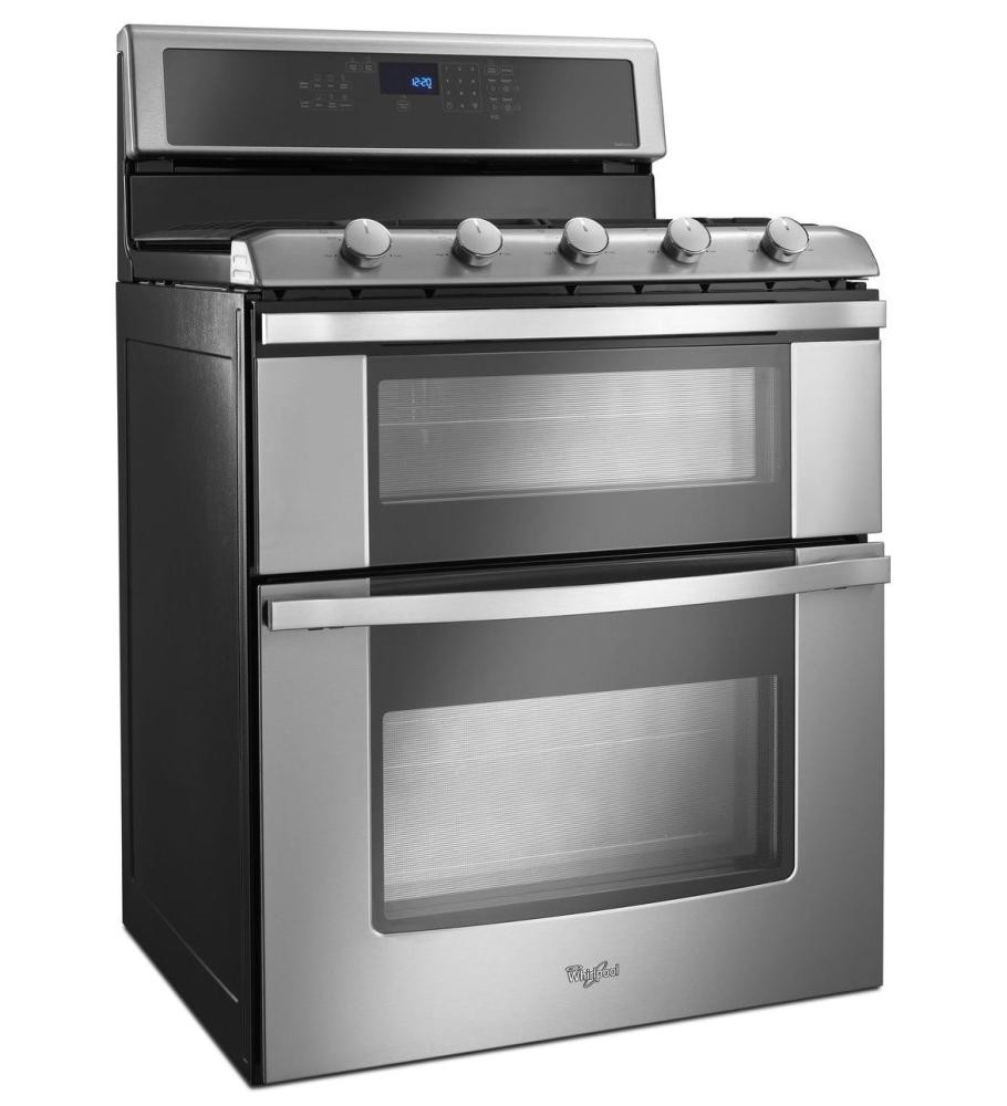 Whirlpool 60 Total Cu Ft Double Oven Gas Range With Convection