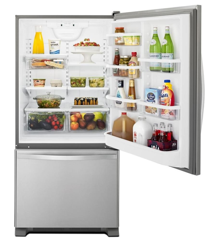 WHIRLPOOL 33-inches Wide Bottom-Freezer Refrigerator With