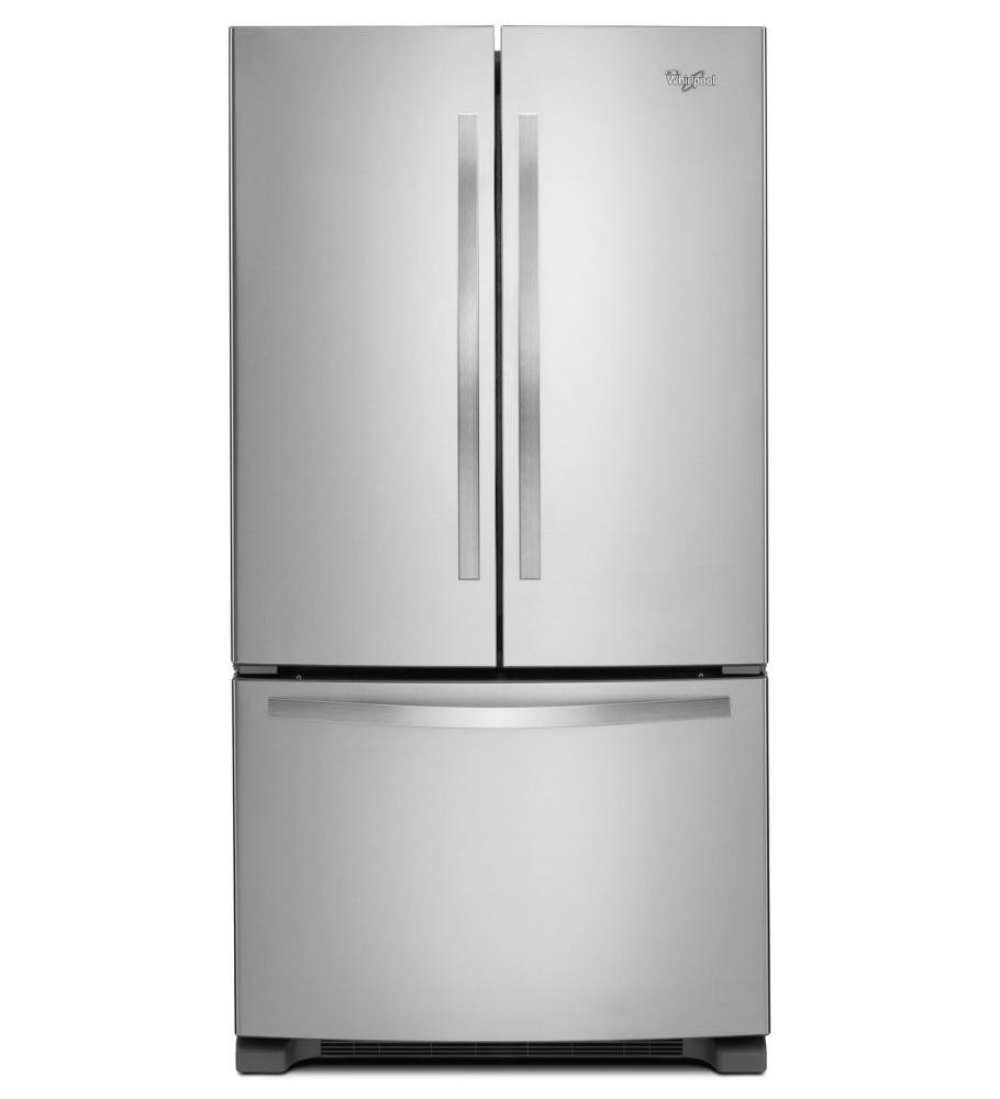 WHIRLPOOL 36-inch Wide French Door Refrigerator with Frameless Glass ...