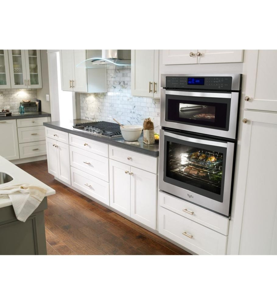 WHIRLPOOL 6.4 cu. ft. Combination Wall Oven with True Convection ...