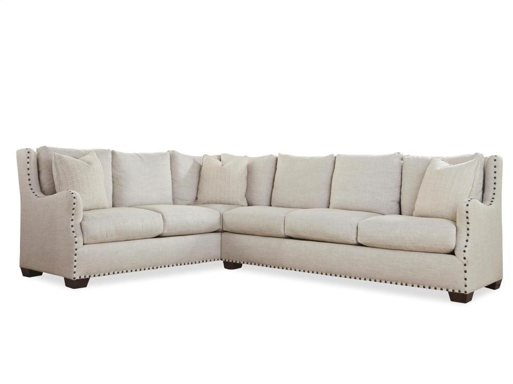 universal furniture connor sectional right arm sofa left arm corner