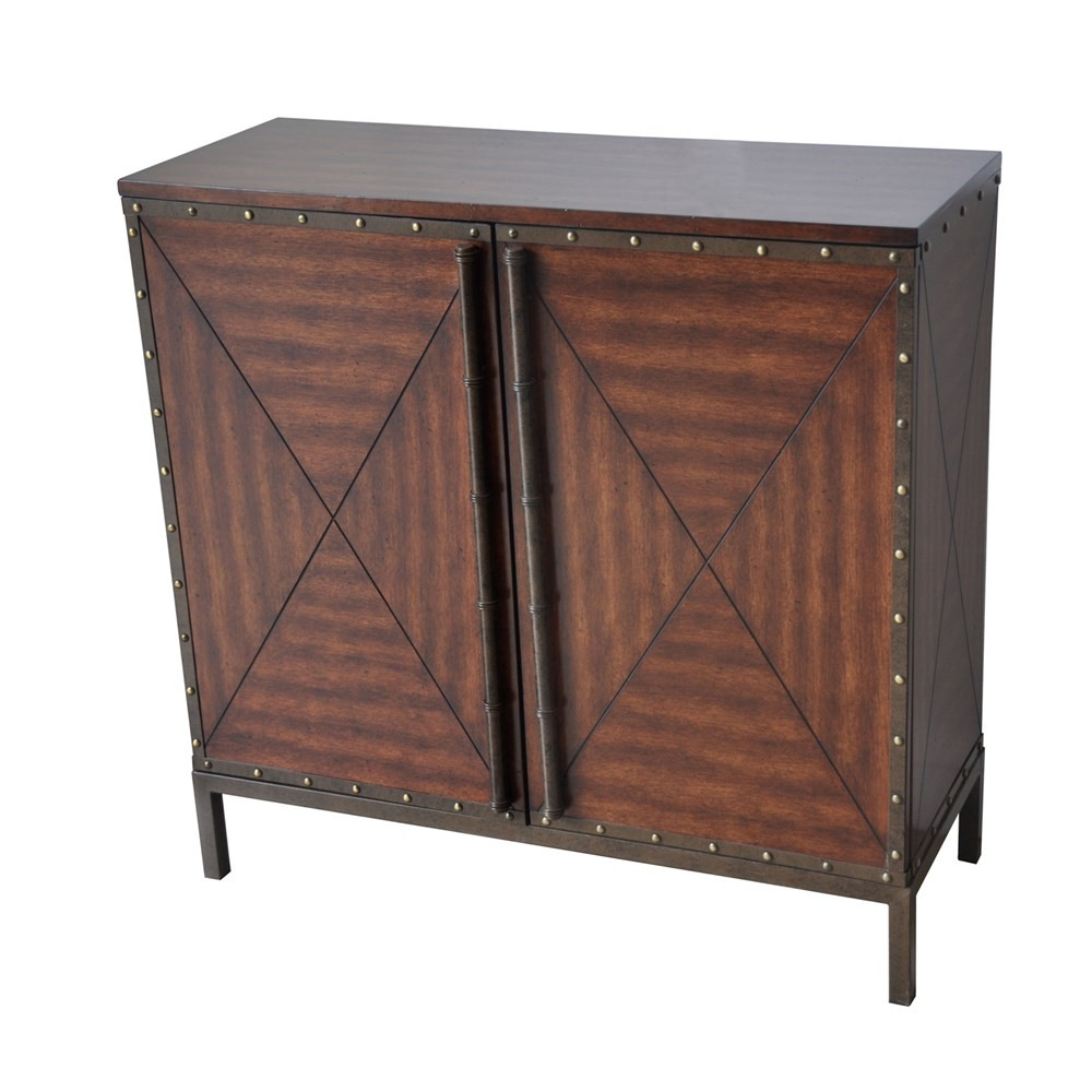 Crestview Collections Ventura 2 Door Century Wood And Metal Cabinet
