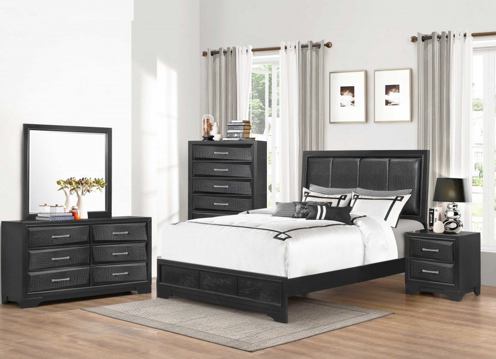 Bedroom Group Great Buy Great Look! Dresser, Mirror, Queen Headboard, Footboard, and Rails