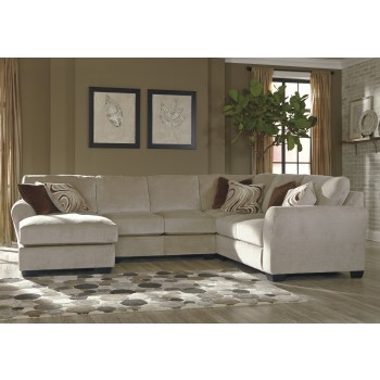 Hazes - Fleece 4 Pc LAF Chaise Sectional