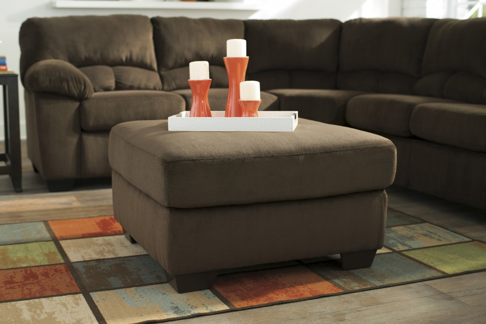 Dailey - Chocolate - Oversized Accent Ottoman